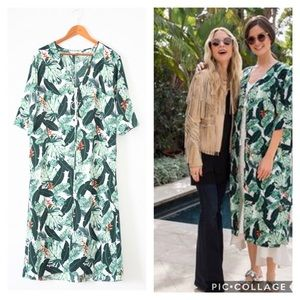 Rachel Zoe Collection Palm Print Duster NWT